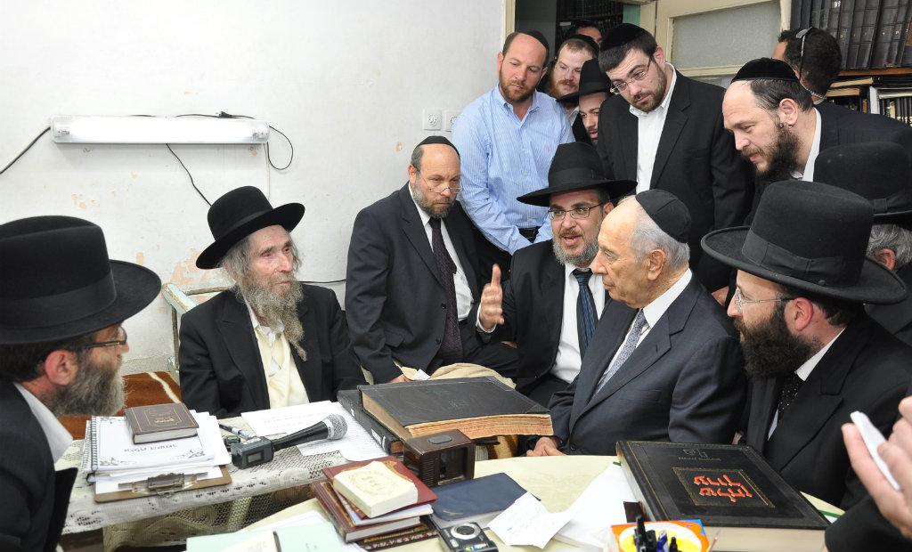 הרב שטיינמן ושמעון פרס