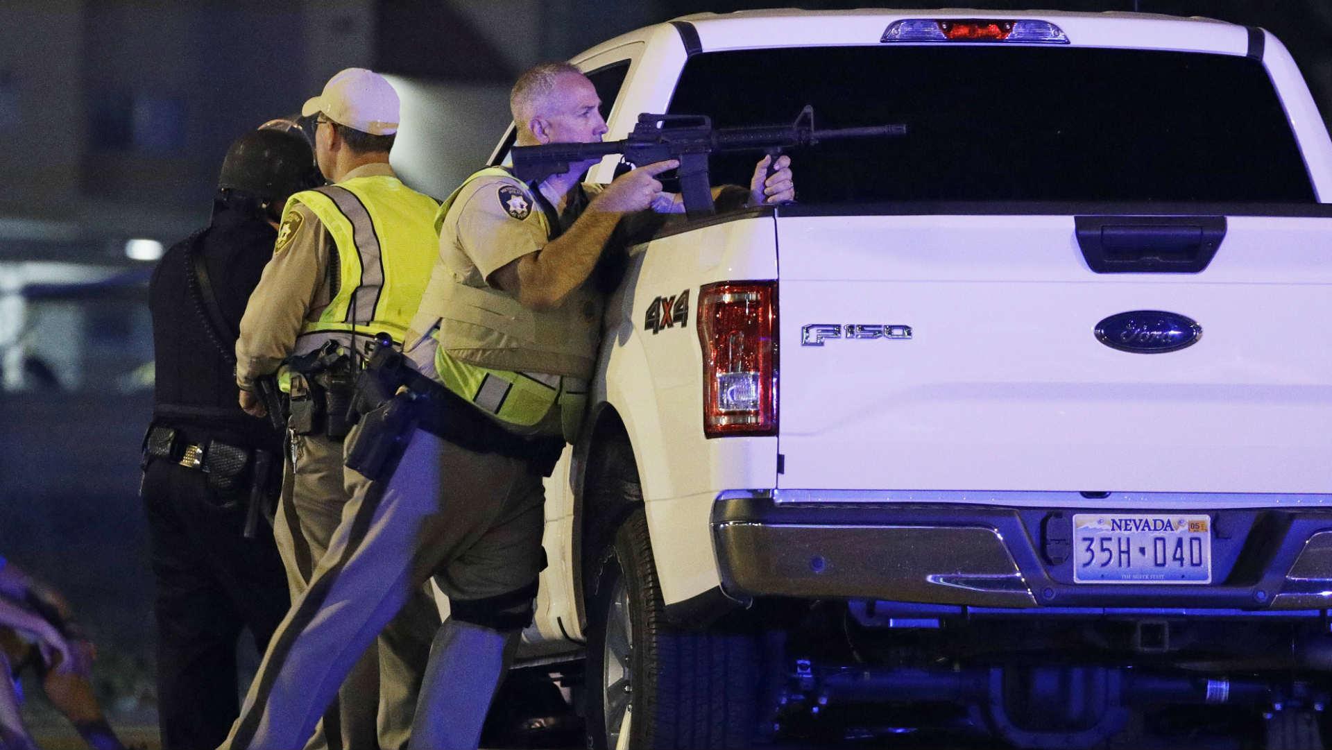 משטרת לאס וגאס בזירת האירוע