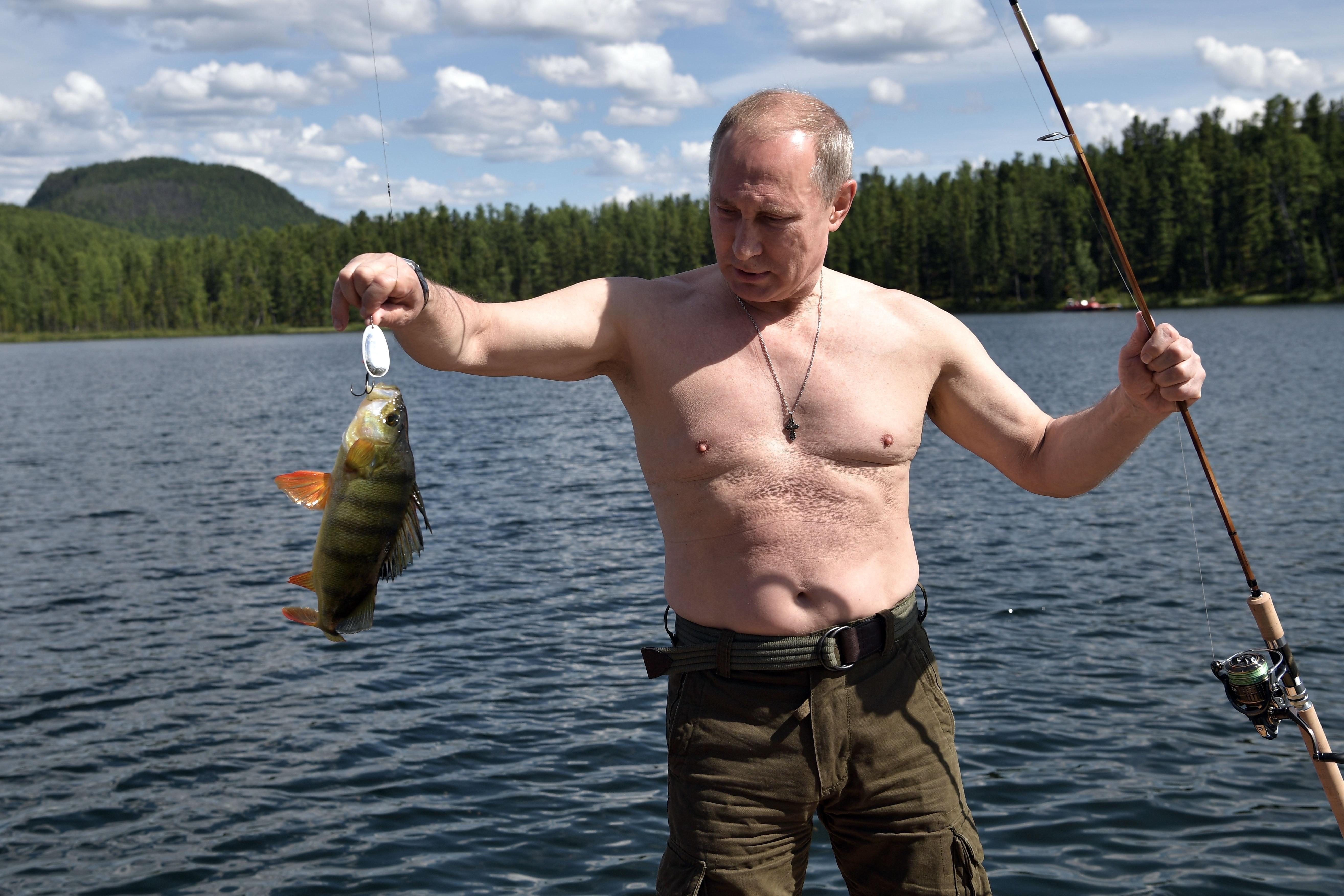 נשיא רוסיה ולדימיר פוטין נופש