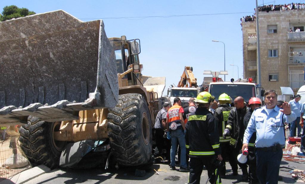 זירת הפיגוע שבה חיסל פלסר את המחבל, יולי 2008 (צילום: פלאש 90)
