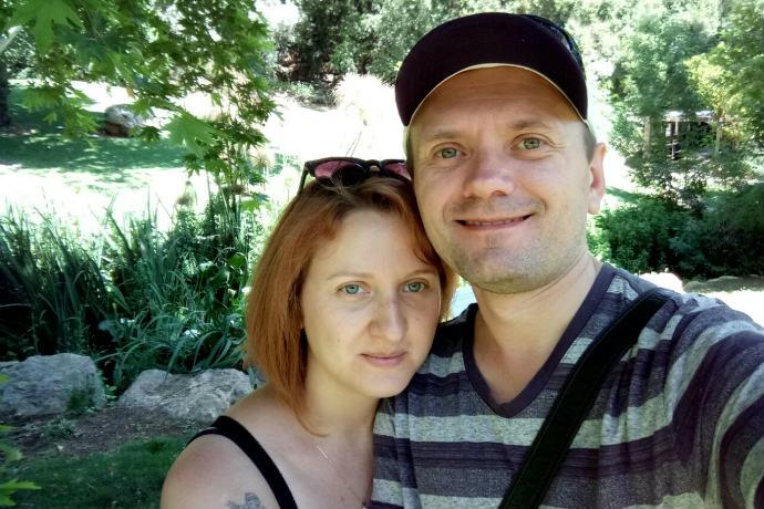 ניקולאי פליוחין ודריה ליוברסקי. דריה: