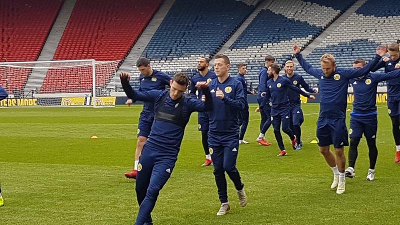 שחקני נבחרת סקוטלנד באימון