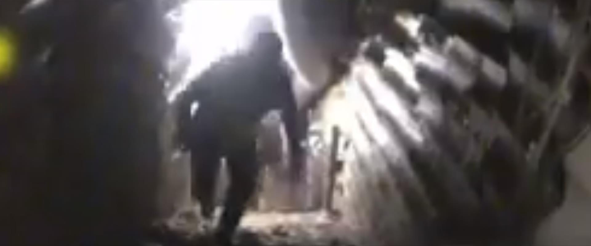 מחבלים בתוך המנהרה שנחשפה בצפון