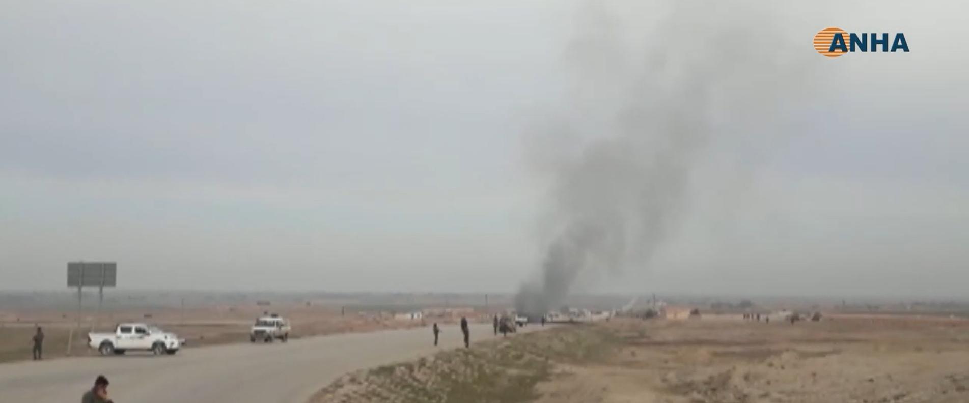 זירת הפיגוע בסוריה