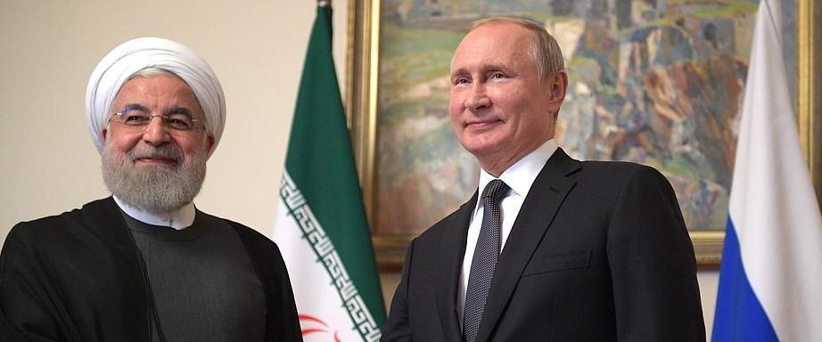 נשיא רוסיה פוטין ונשיא איראן רוחאני בפגישה 1.10.19