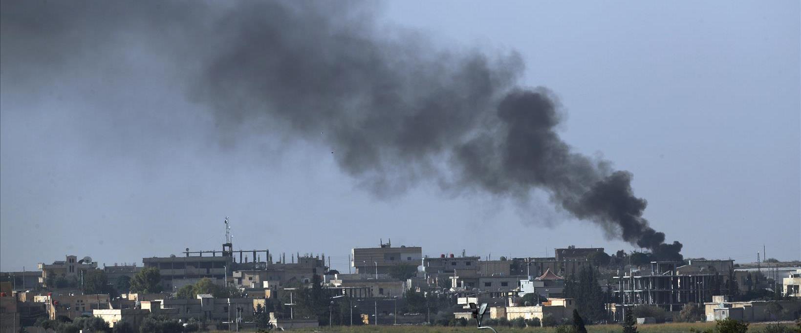 עשן מעל עיירת הגבול תל אבייד