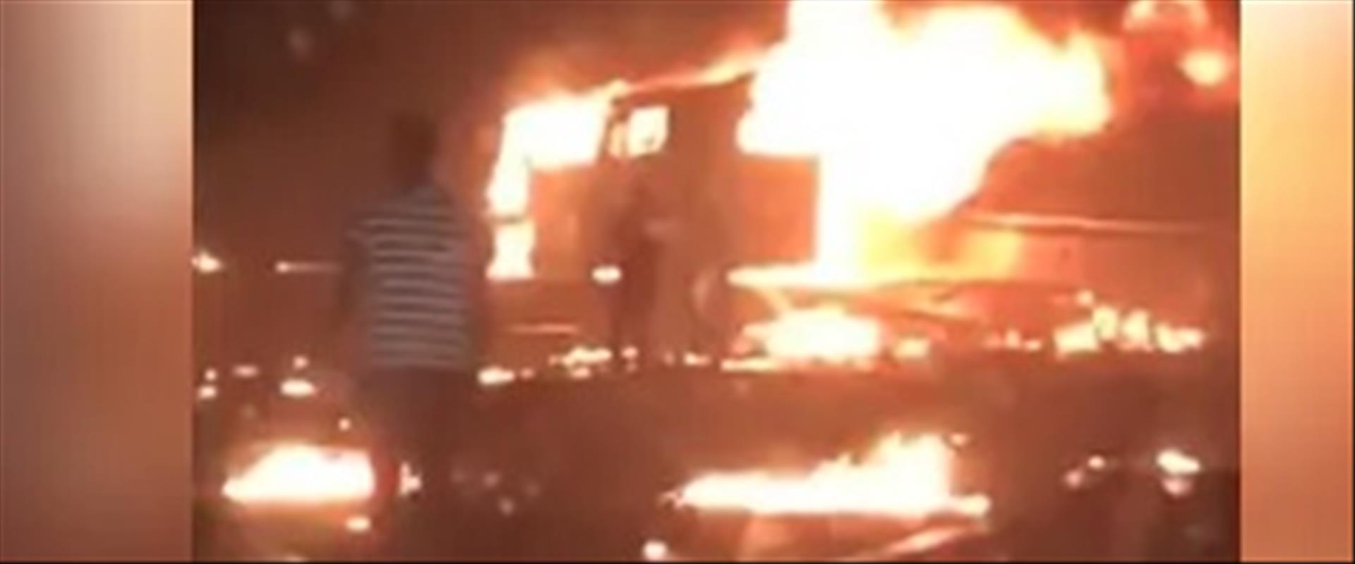 זירת התאונה בסעודיה