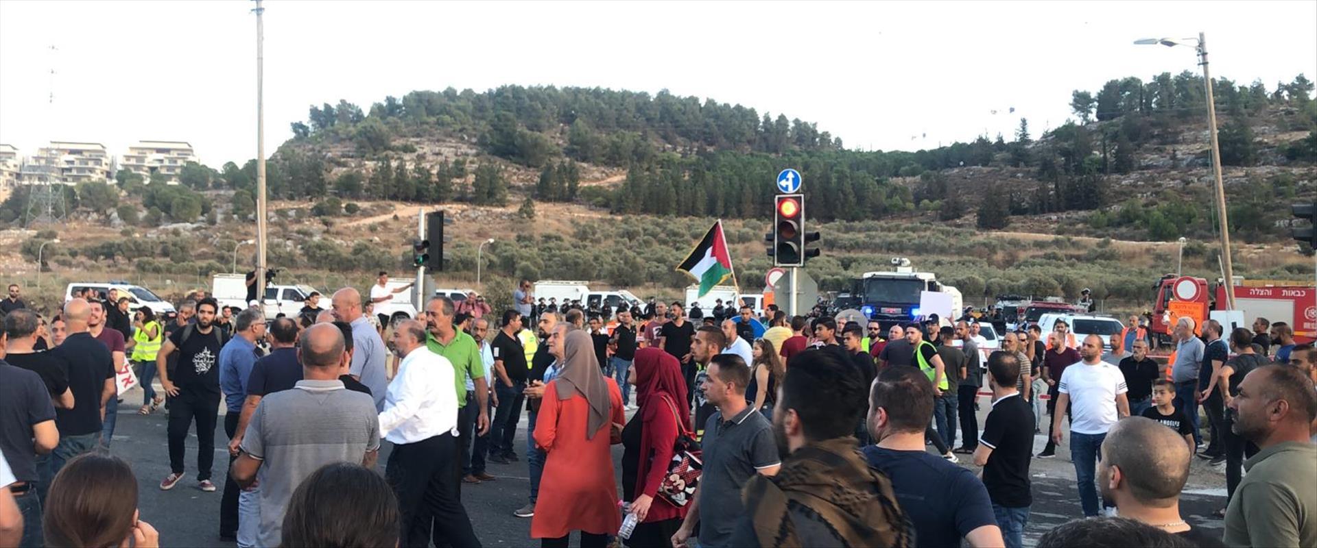 הפגנת מחאה של ערבים במג' אל כרום נגד האלימות, 03.1