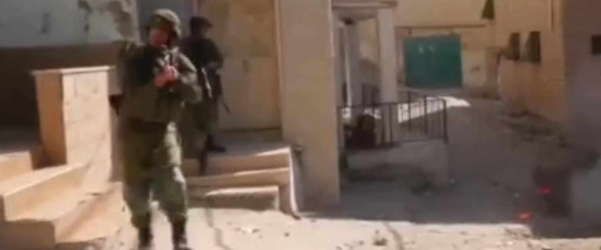 תיעוד הירי לעבר הצעיר הפלסטיני, היום