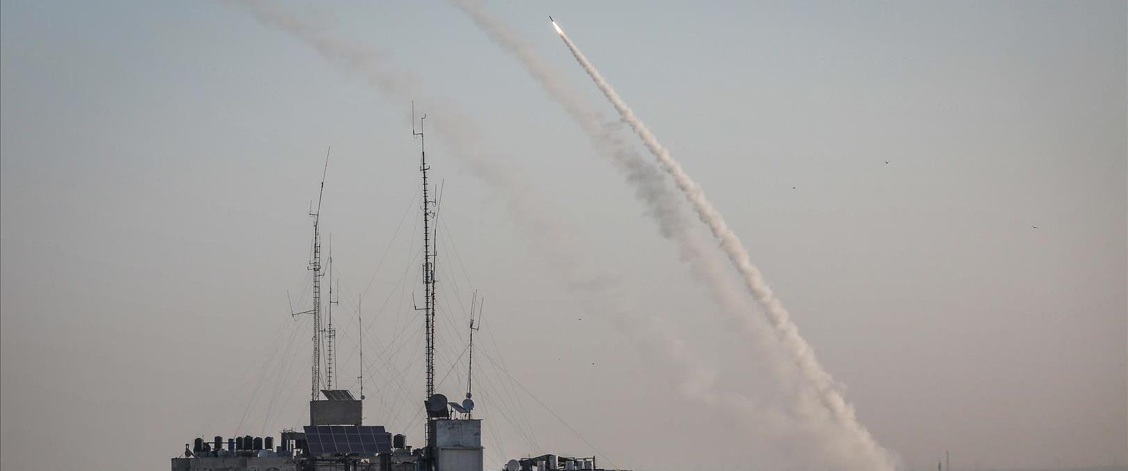 שיגור רקטה מעזה לישראל