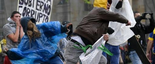 ההפגנות בקולומביה, אתמול