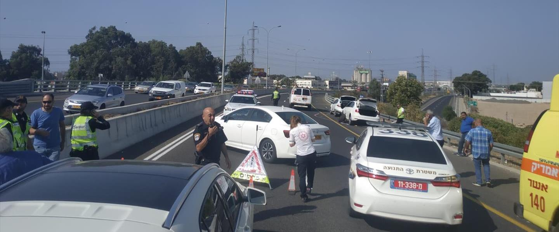 זירת התאונה בכביש 22, 08.11.19