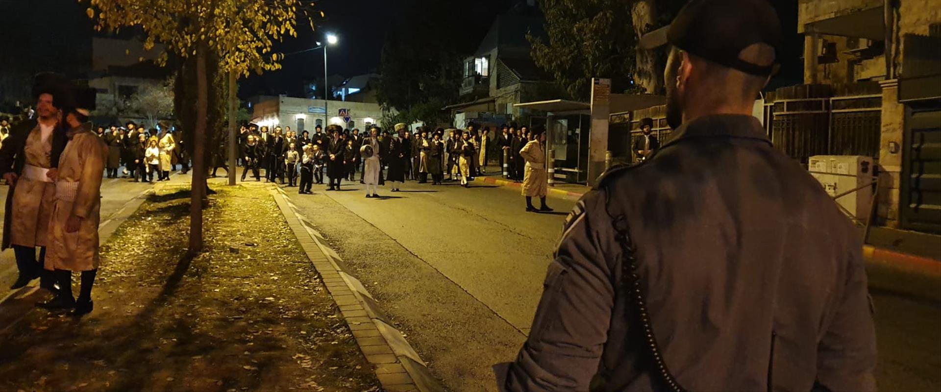 ההפגנות בירושלים, הערב
