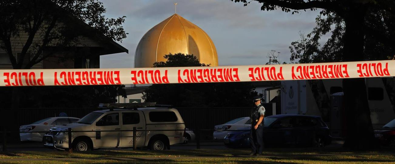 זירת פיגוע הטרור בעיר קרייסטצ'רץ' בניו זילנד