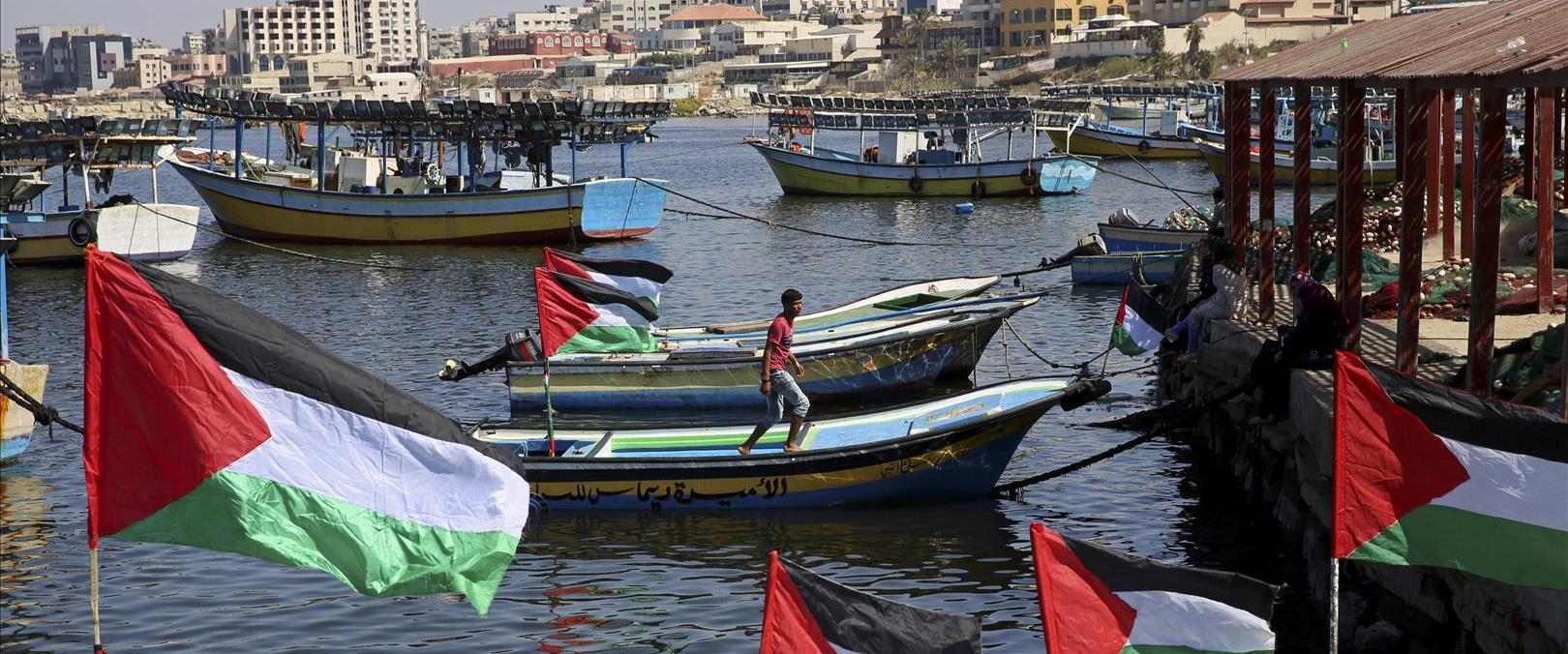סירות דיג ברצועת עזה