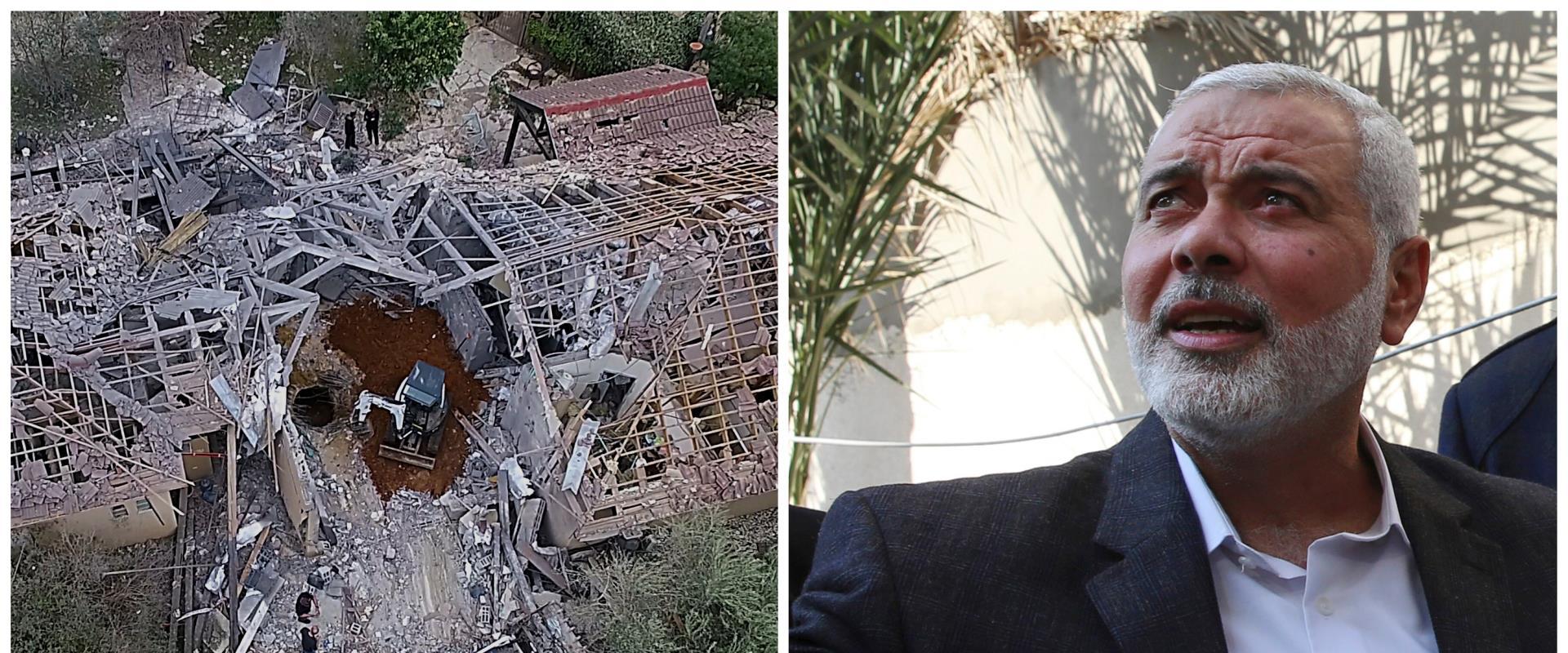 הבית שנפגע מירי בשרון