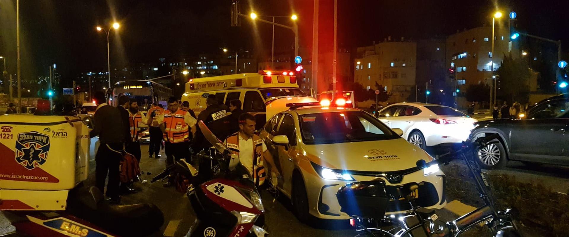 זירת התאונה בירושלים