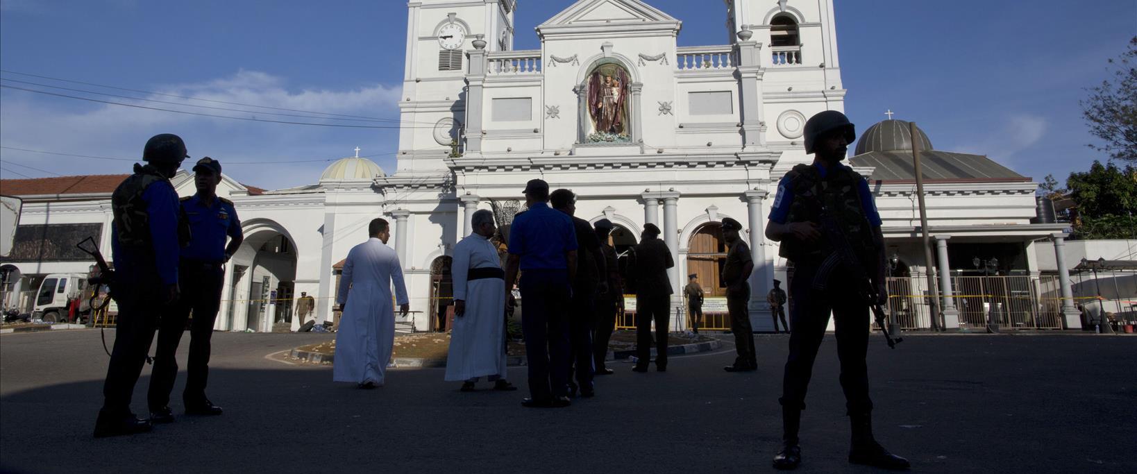 מקדש סנט אנטוני שבו אירע הפיגוע בסרי לנקה, אתמול