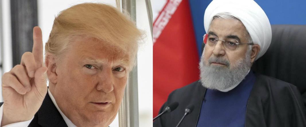 """נשיא ארה""""ב דונלד טראמפ ונשיא איראן חסן רוחאני"""
