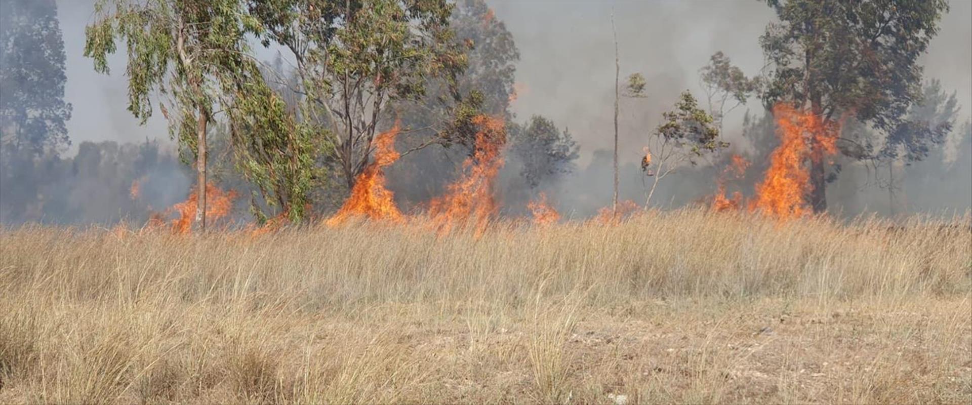 שריפה בבארי כתוצאה מבלוני תבערה