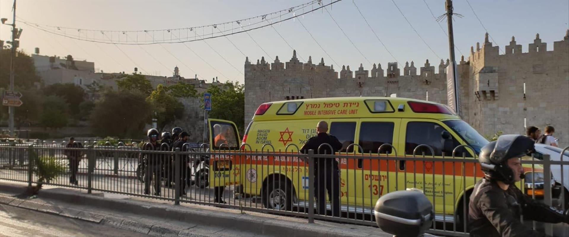 זירת האירוע בירושלים
