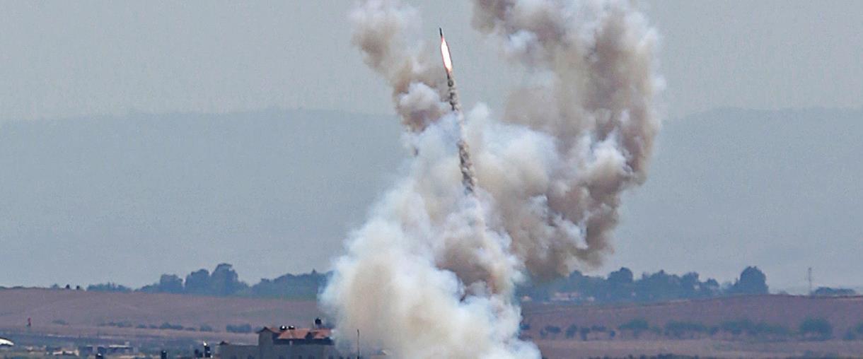 שיגור רקטה מרצועת עזה לישראל
