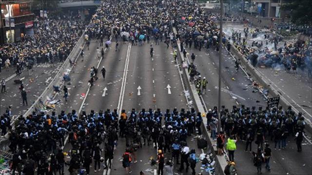 ההפגנות בהונג קונג נגד חוק ההסגרה לסין. צילום: AFP