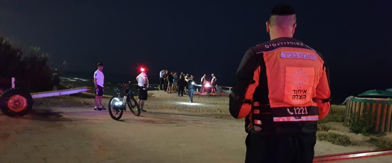 זירת נפילת הילד בחוף סי פאלאס בבת ים