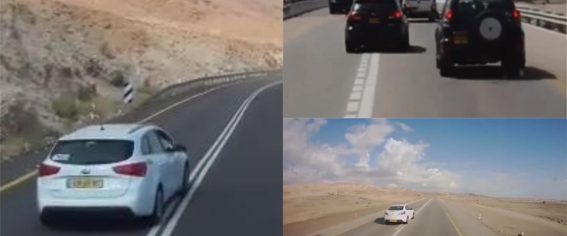 עקיפות מסוכנות בכביש 90