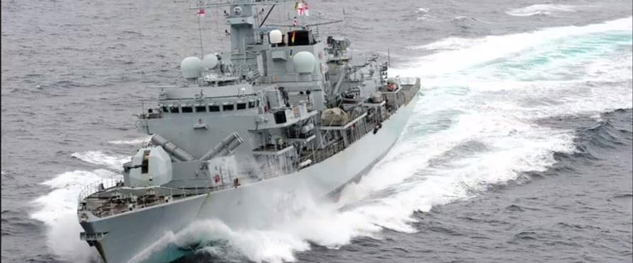 ספינת הקרב הבריטית שהזהירה את הכוחות האיראנים