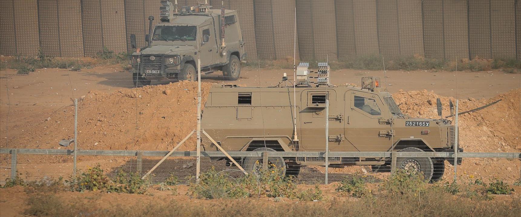 """כוחות צה""""ל בגבול עזה"""