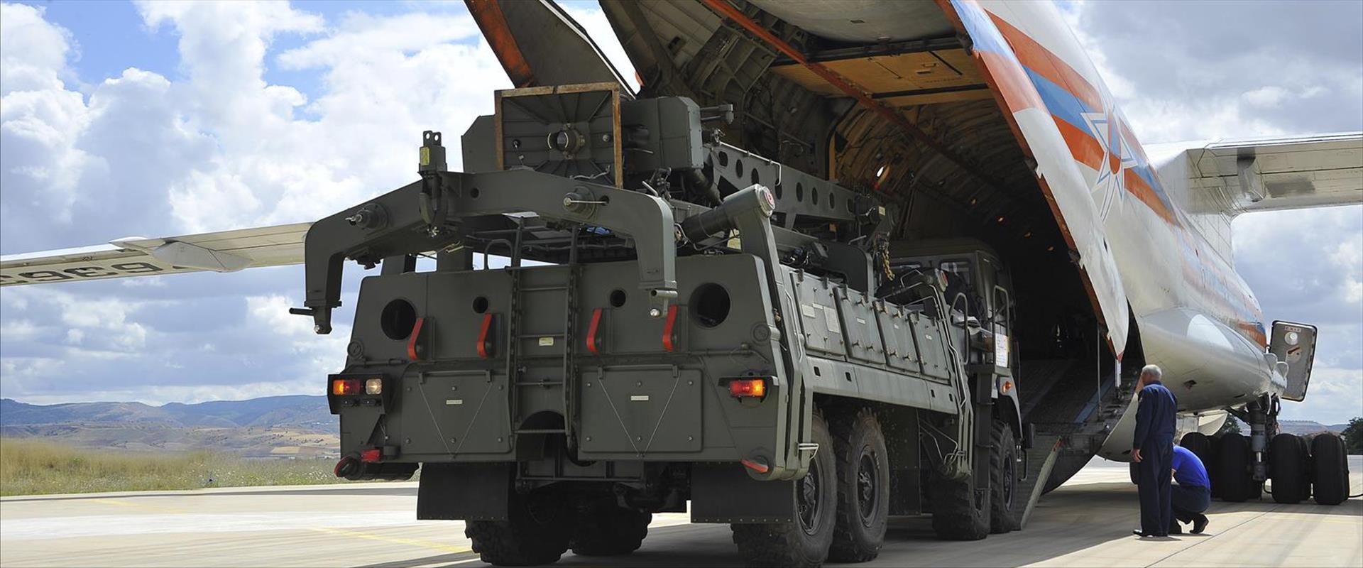 חלק ממערכת S-400 שהגיע לטורקיה