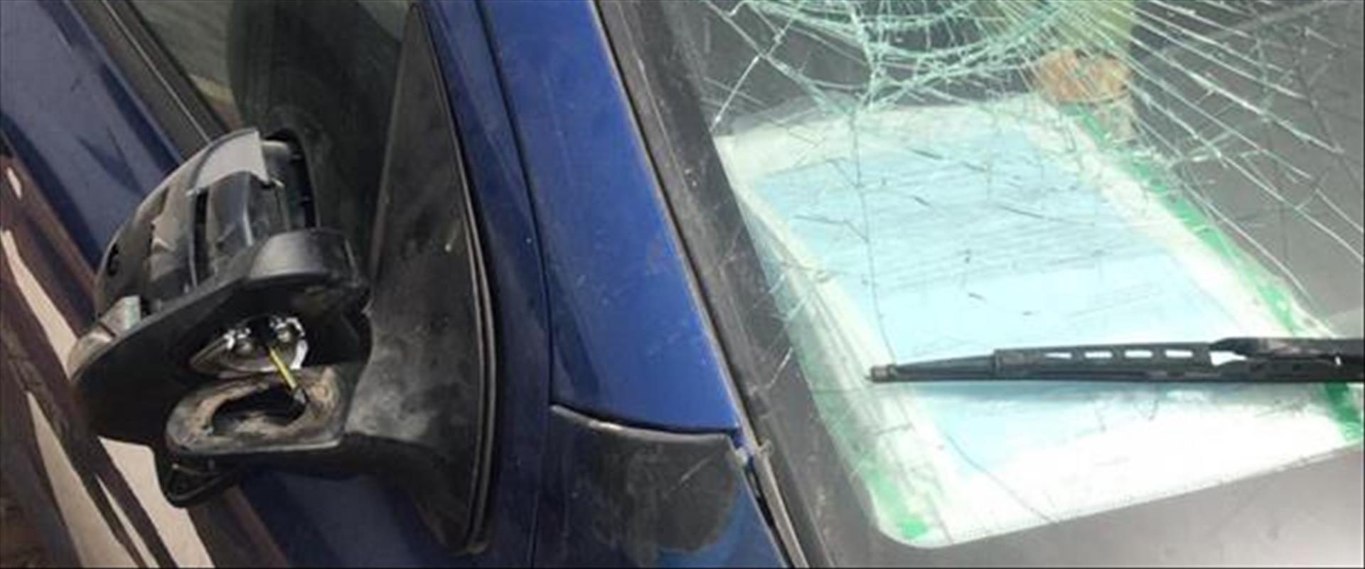 רכבו של החשוד בפגע וברח