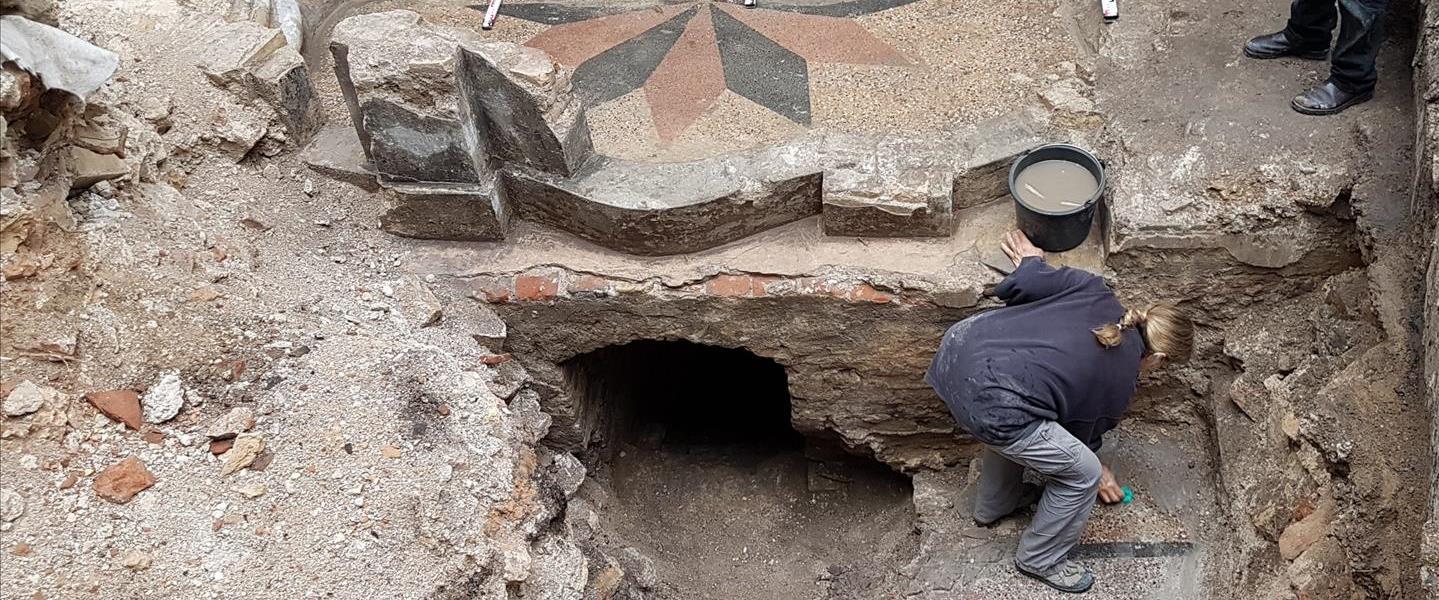 חפירות בית הכנסת הגדול בוילנה