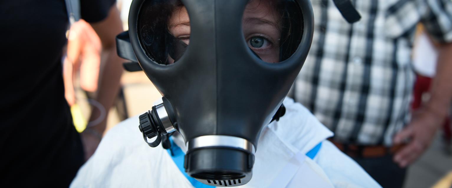 הפגנה נגד זיהום אוויר בחיפה