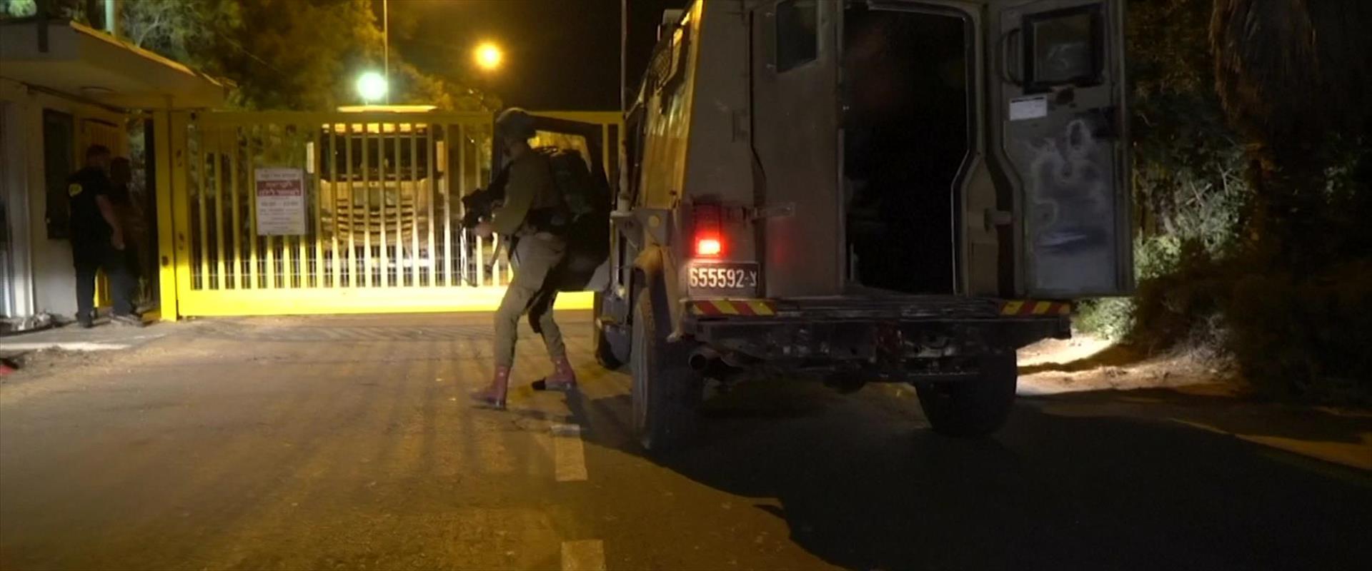 סמוך לזירת הירי הלילה בגבול הרצועה