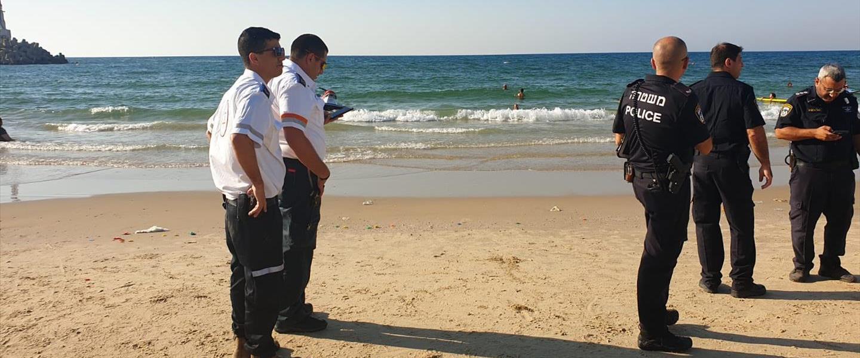 כוחות ההצלה בחוף אשקלון