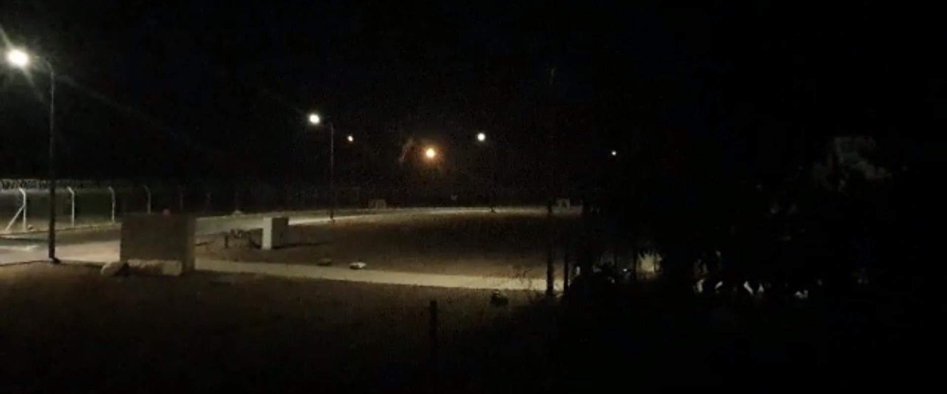 פצצות התאורה מהצד הישראלי של גדר הגבול