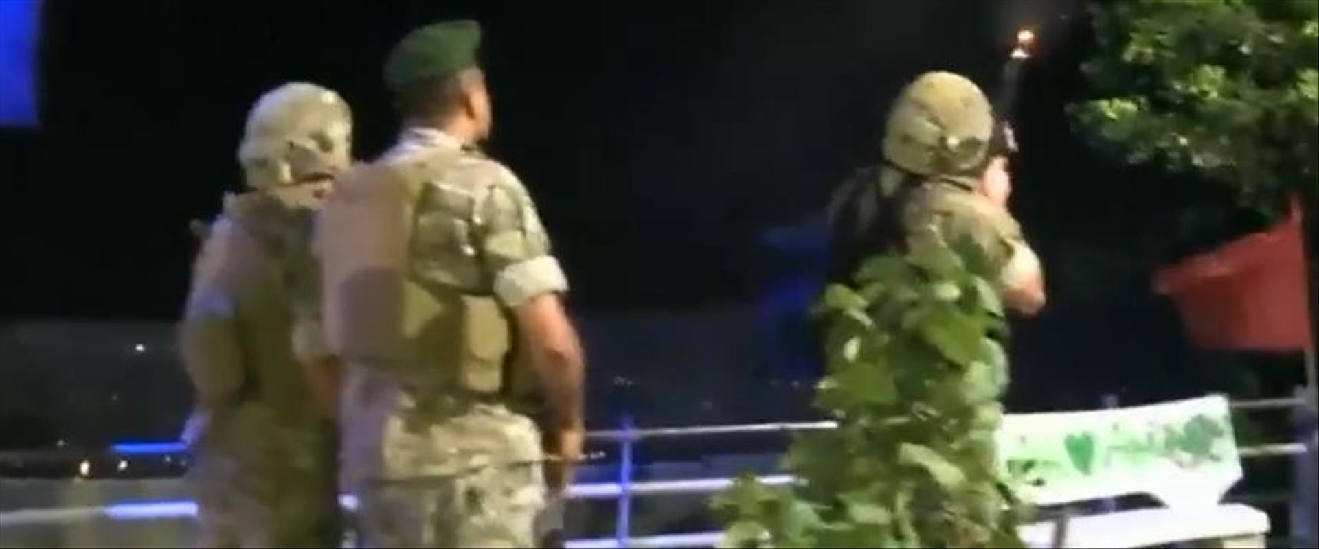 """תיעוד לבנוני של הירי לעבר הרחפנים של צה""""ל"""
