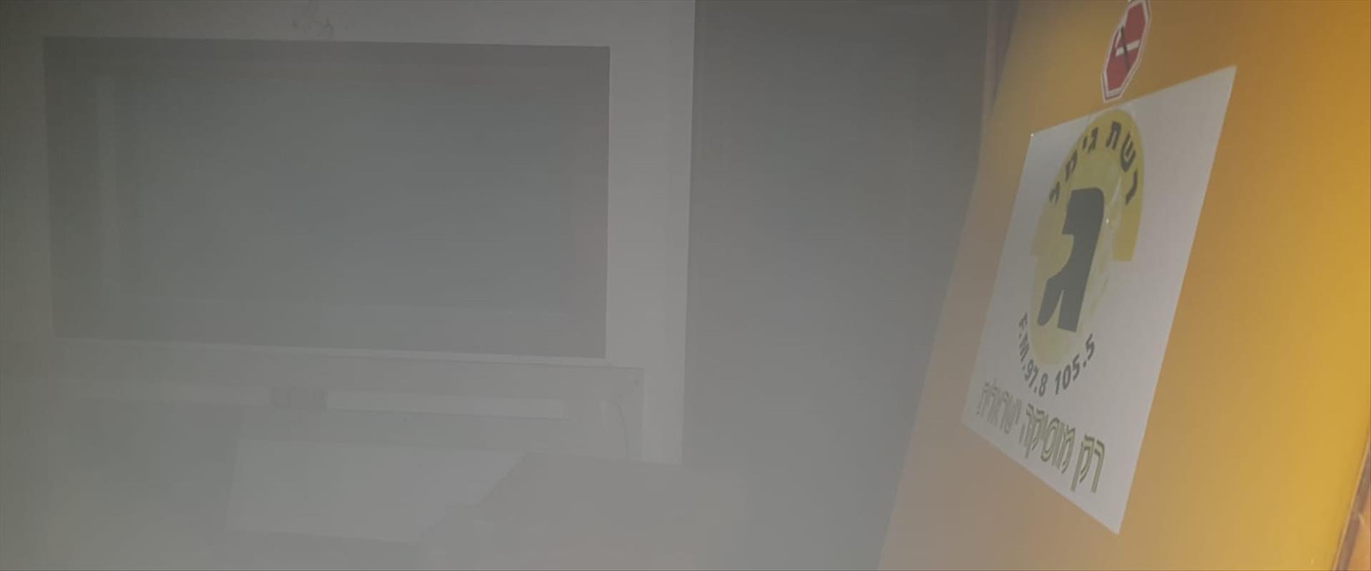 שריפה בבניין רשות השידור 21.09.19