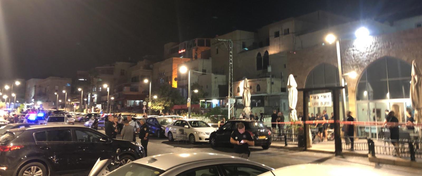 זירת אירוע הירי בעכו