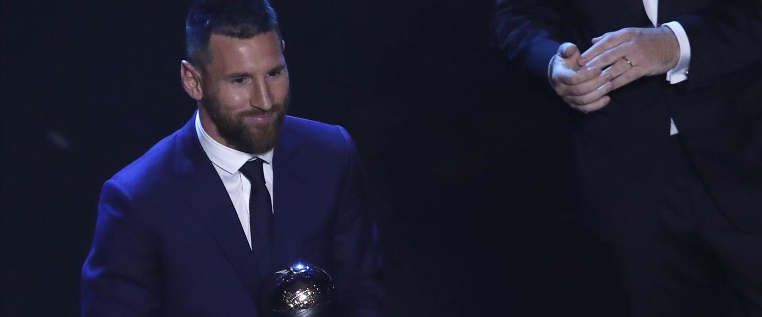 """ליונל מסי בטקס פרסי השנה של פיפ""""א 2019"""