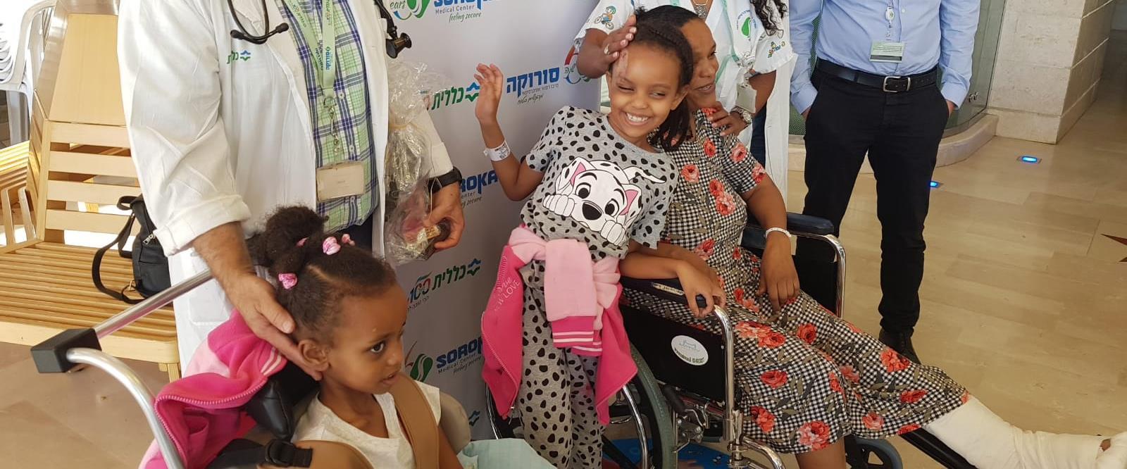 בנות המשפחה משתחררות מבית החולים
