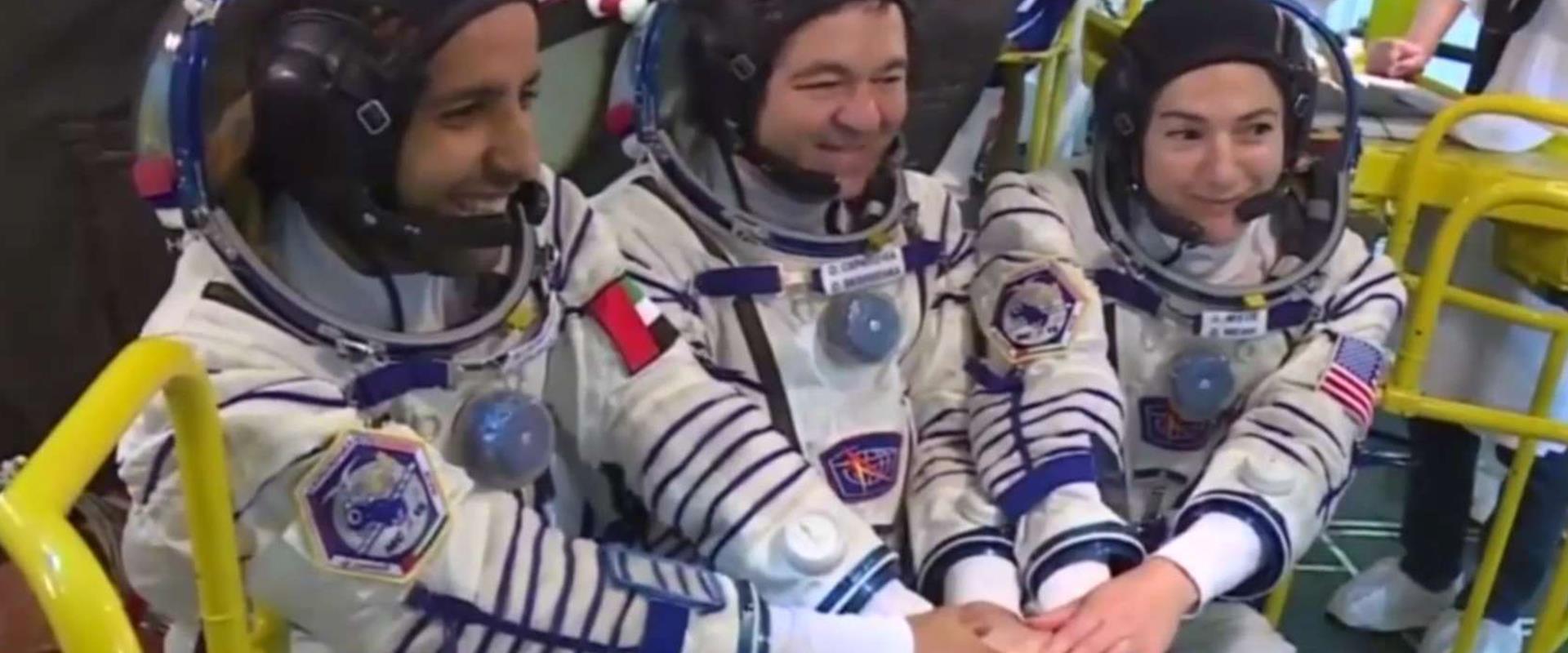 האסטרונאוטים משוגרים לחלל
