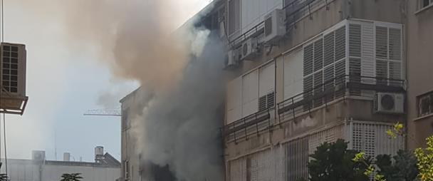 הבניין בנתניה בו פרצה השריפה