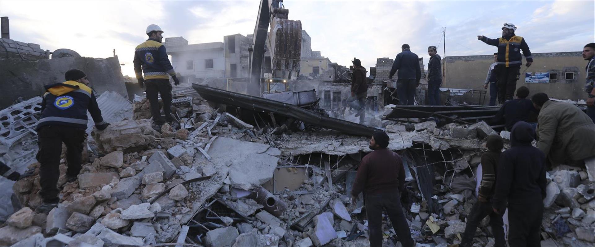 ההרס באידליב שבצפון סוריה