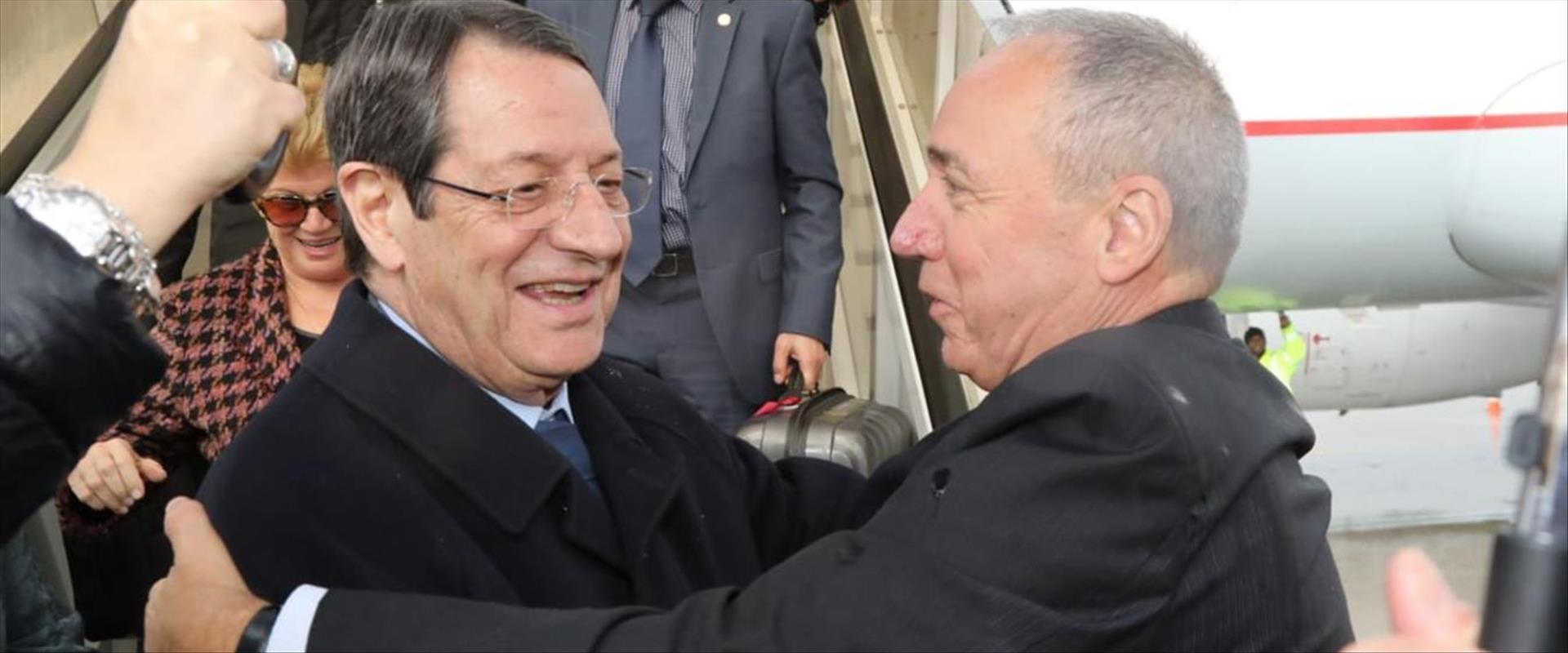 """נשיא קפריסין אנסטסיאדיס בנתב""""ג, היום"""