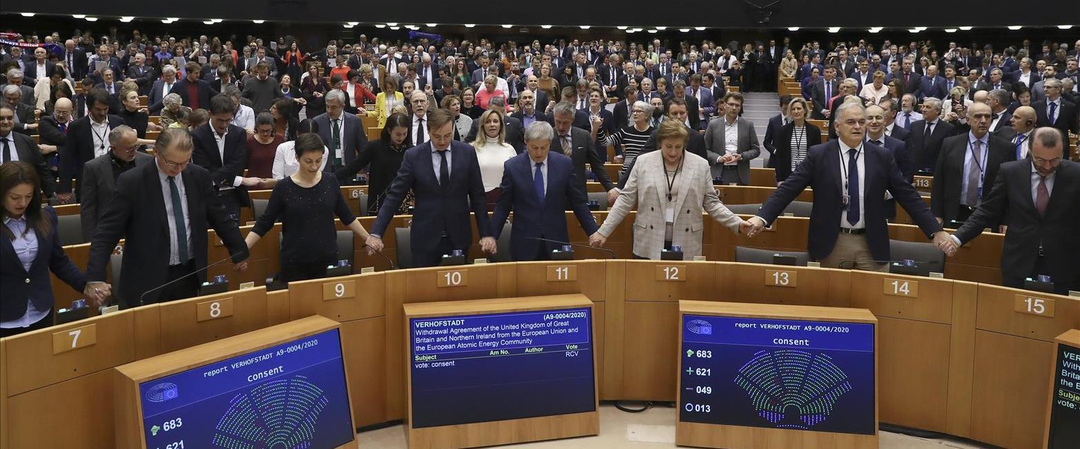 חברי הפרלמנט האירופי לאחר ההצבעה אתמול