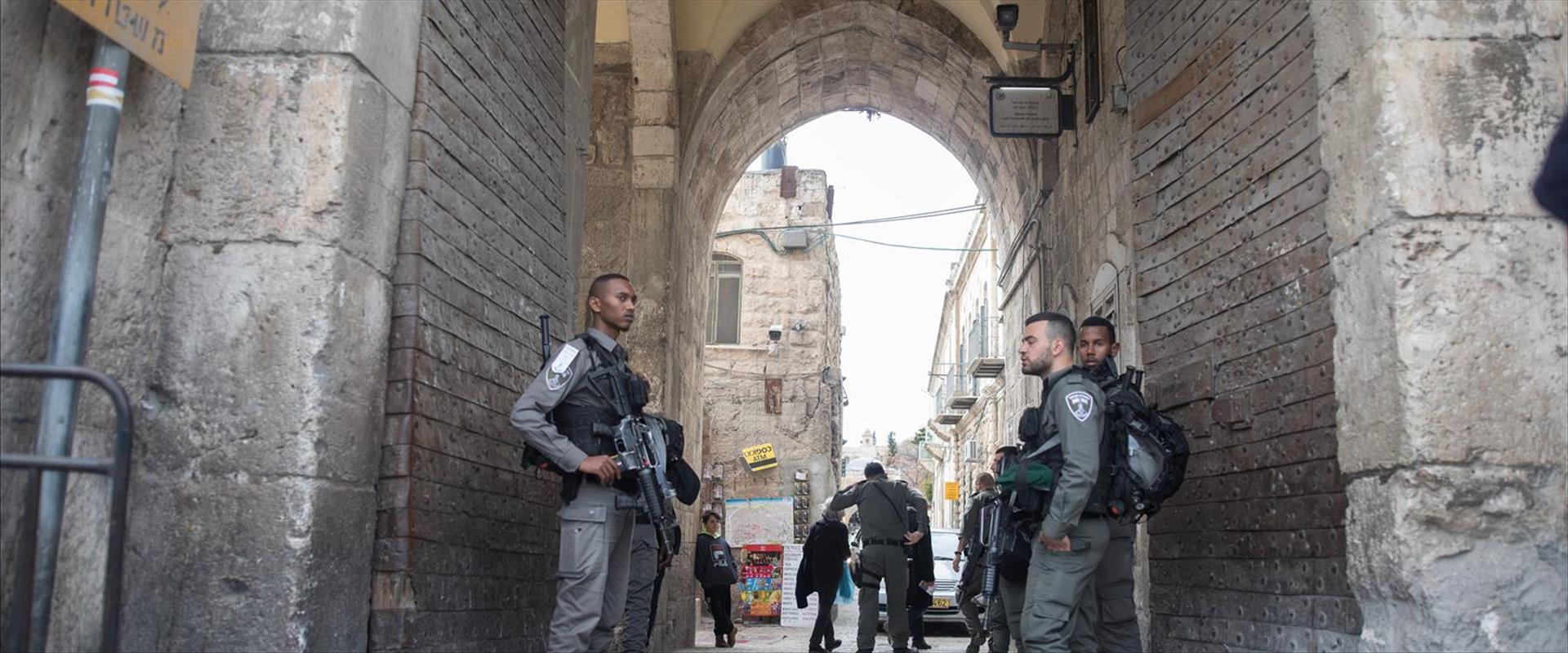 כוחות משטרה בעיר העתיקה בירושלים, 2019