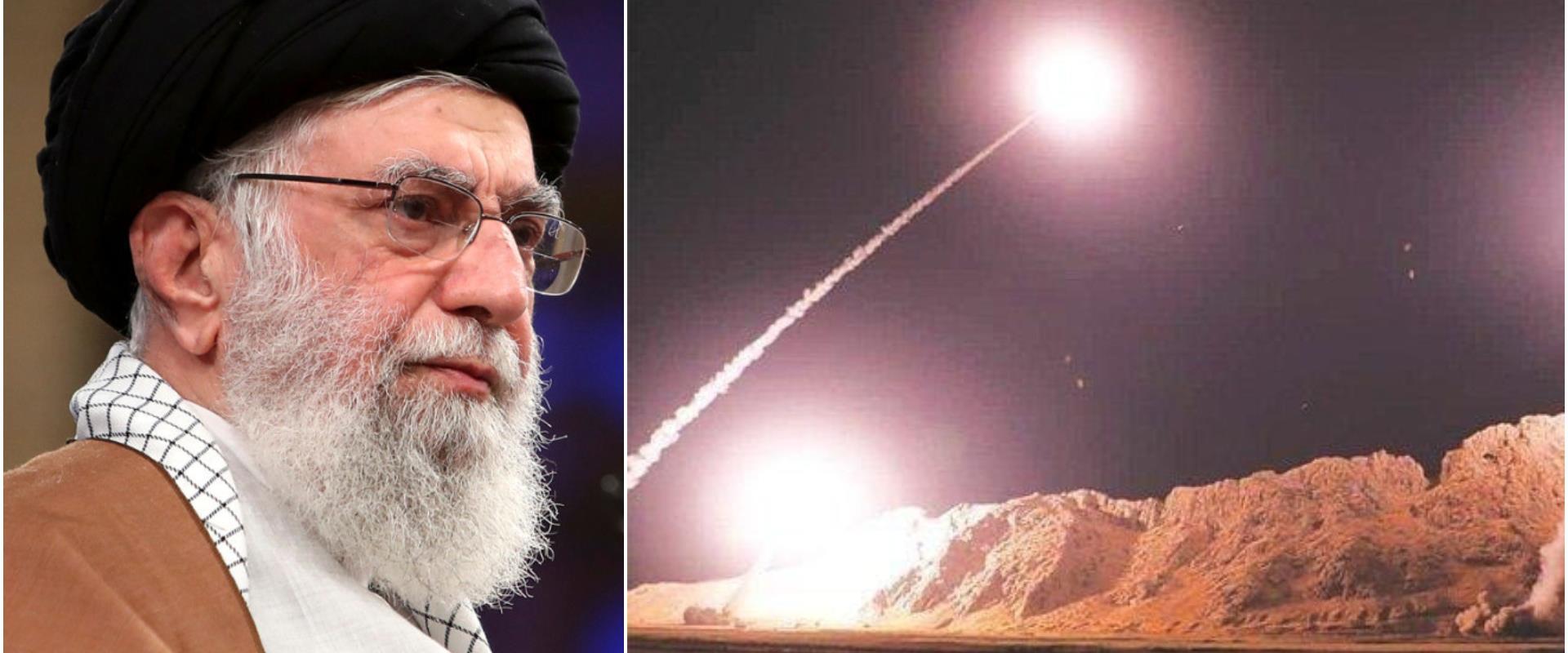 """""""סתירה לפנים"""". התקיפה האיראנית בעיראק, חמינאי"""